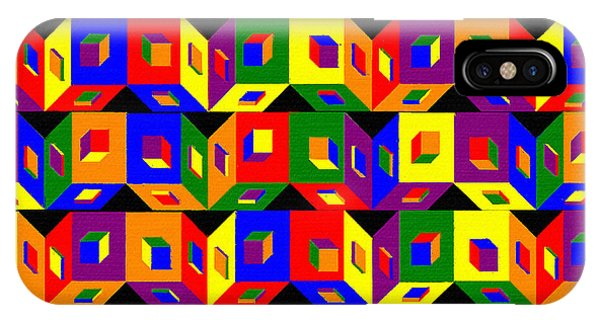 iPhone Case - Colored Cubes by Pharris Art