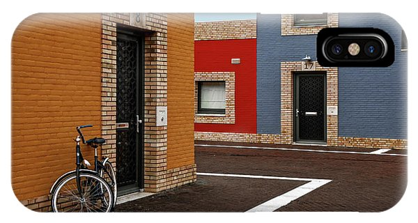 Alley iPhone Case - Colored Facades by Gilbert Claes