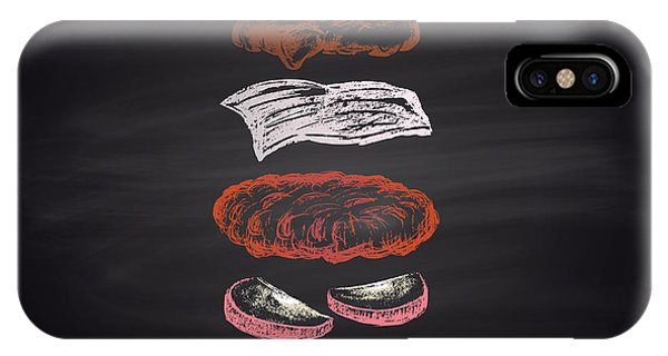 Turkey iPhone Case - Colored Illustration Of Chalk Drawn by Anat om