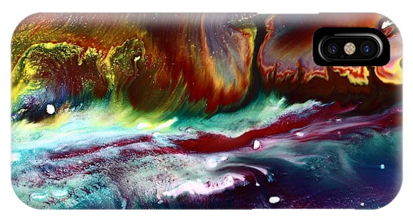 Colorful Abstract Art Vivid Colors Rainbow Landscape By Kredart  IPhone Case