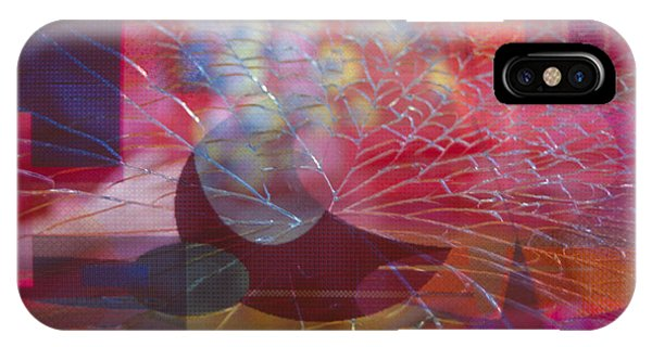 colorful abstract floral still life - Fractured Vase IPhone Case