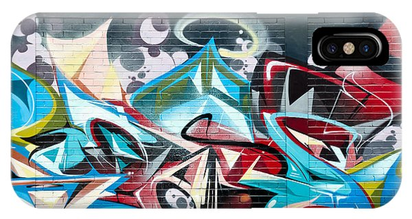 Colorful Abstract Graffiti Art On The Brick Wall IPhone Case