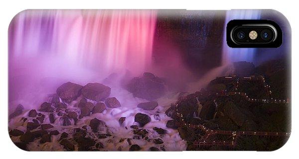 Dark Violet iPhone Case - Colorful American Falls by Adam Romanowicz
