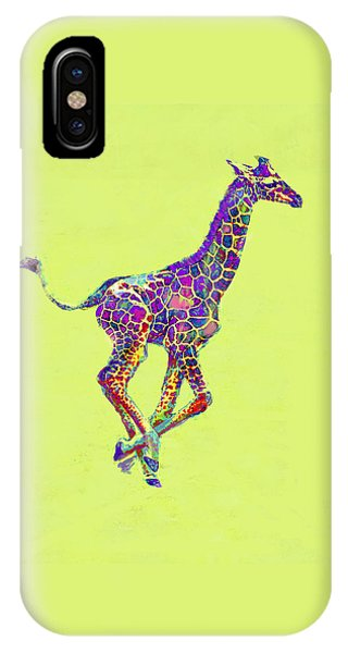 Giraffe iPhone Case - Colorful Baby Giraffe by Jane Schnetlage