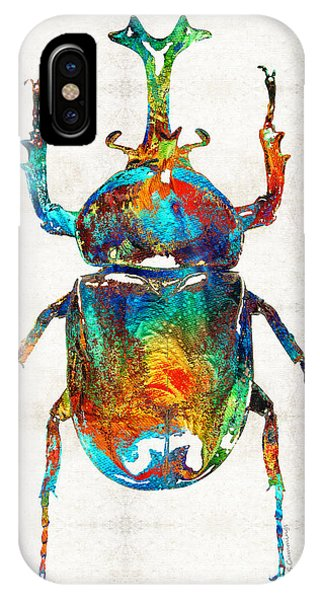 Primary Colors iPhone Case - Colorful Beetle Art - Scarab Beauty - By Sharon Cummings by Sharon Cummings