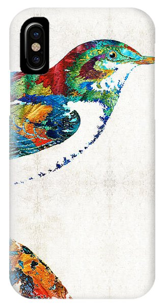 Finch iPhone Case - Colorful Bird Art - Sweet Song - By Sharon Cummings by Sharon Cummings