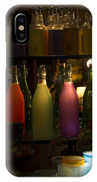 Colorful Bottle Display IPhone Case