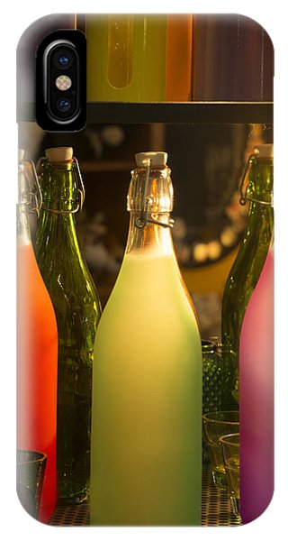Colorful Bottles Closeup IPhone Case