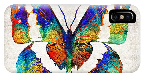Primary Colors iPhone Case - Colorful Butterfly Art By Sharon Cummings by Sharon Cummings