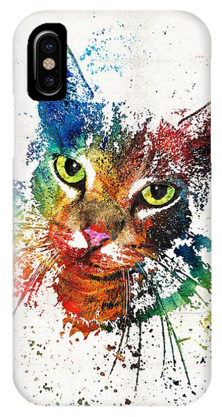 Primary Colors iPhone Case - Colorful Cat Art By Sharon Cummings by Sharon Cummings