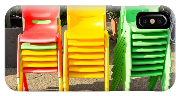 Classroom iPhone Case - Colorful Chairs by Tom Gowanlock