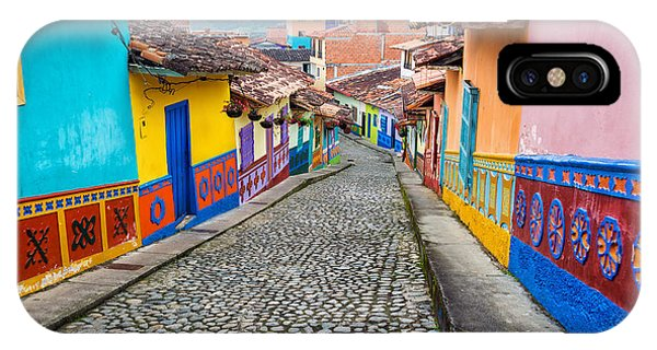 Colombia iPhone Case - Colorful Cobblestone Street by Jess Kraft