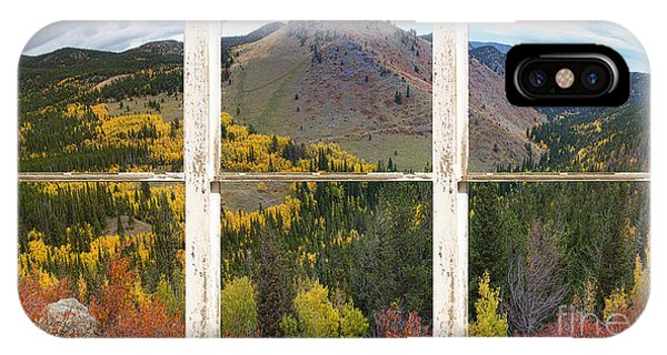 Colorful Colorado Rustic Window View IPhone Case