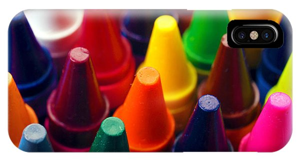 Colorful Crayons Closeup IPhone Case