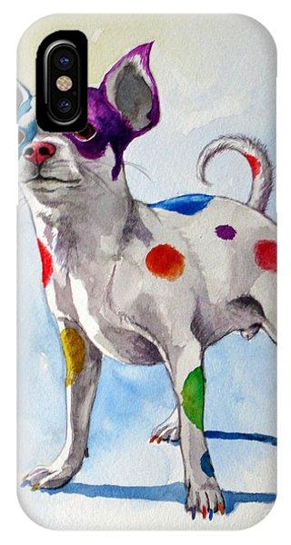 Colorful Dalmatian Chihuahua IPhone Case
