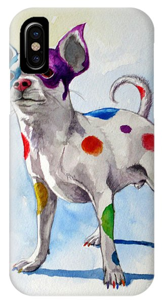 Colorful Dalmatian Chihuahua IPhone Case