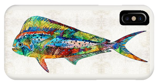 Dolphin iPhone Case - Colorful Dolphin Fish By Sharon Cummings by Sharon Cummings