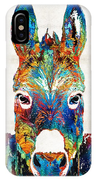 Primary Colors iPhone Case - Colorful Donkey Art - Mr. Personality - By Sharon Cummings by Sharon Cummings