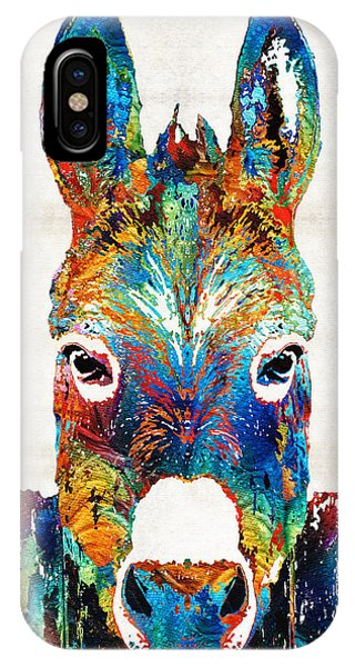 Colorful Donkey Art - Mr. Personality - By Sharon Cummings IPhone Case