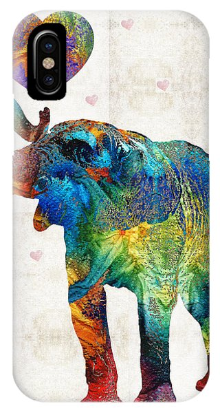 Primary Colors iPhone Case - Colorful Elephant Art - Elovephant - By Sharon Cummings by Sharon Cummings