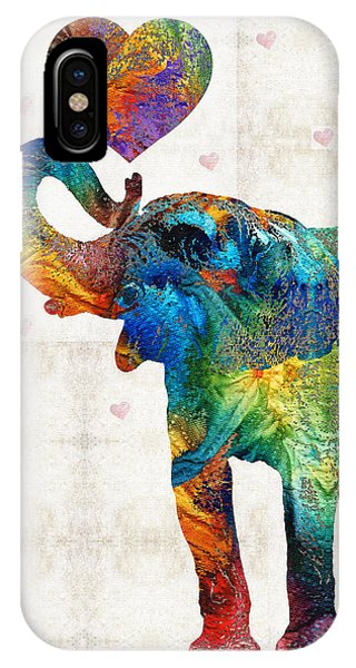 Colorful Elephant Art - Elovephant - By Sharon Cummings IPhone Case
