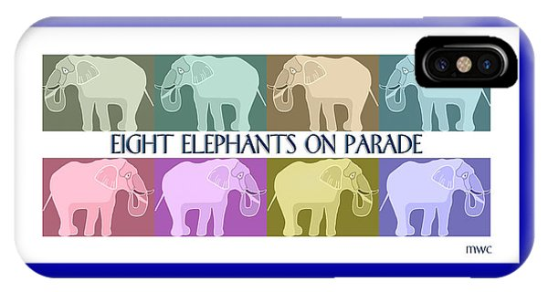 Pastel Elephants On Parade IPhone Case