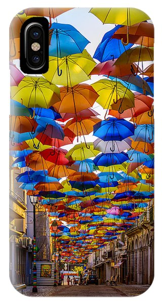 Colorful Floating Umbrellas IPhone Case