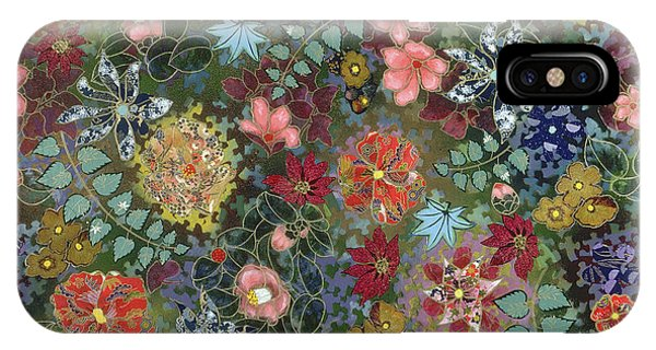 colorful flower painting - For July IPhone Case