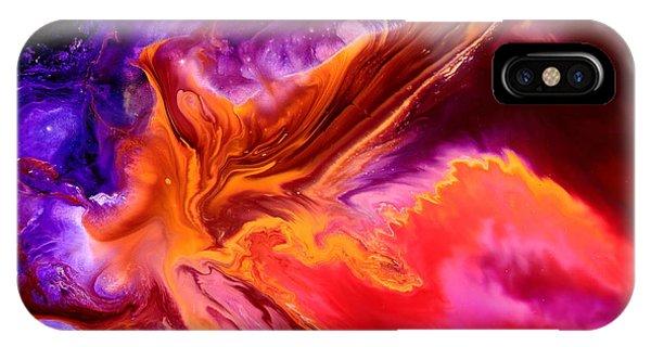 Colorful Fluid Abstract Art Moonstruck By Kredart IPhone Case