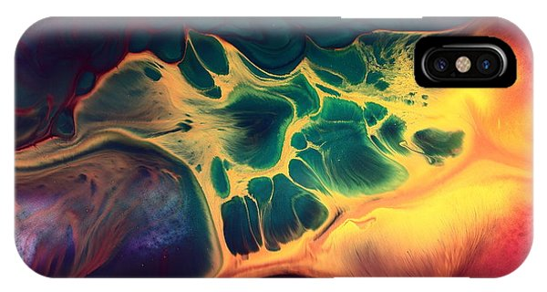 Colorful Fluid Art-wave Of Fire By Kredart IPhone Case