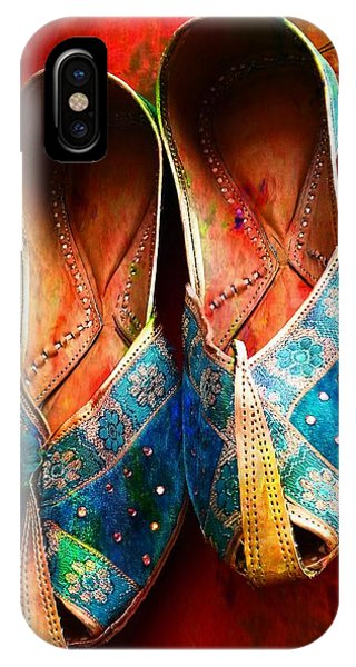 Colorful Footwear Juttis Sales Jaipur Rajasthan India IPhone Case