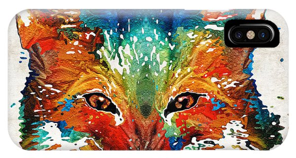 Primary Colors iPhone Case - Colorful Fox Art - Foxi - By Sharon Cummings by Sharon Cummings