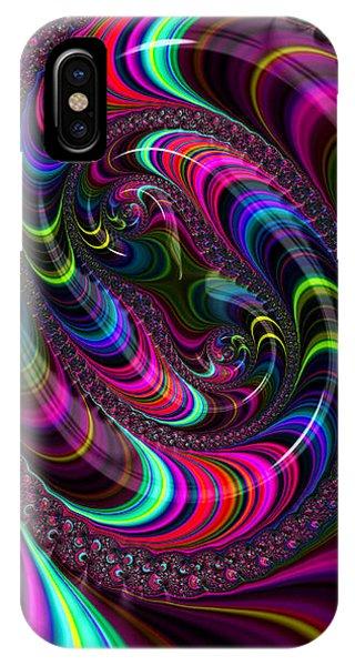 Colorful Fractal Art IPhone Case