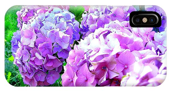 Colorful Hydrangeas Phone Case by Mavis Reid Nugent