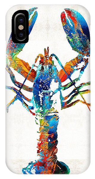 Primary Colors iPhone Case - Colorful Lobster Art By Sharon Cummings by Sharon Cummings