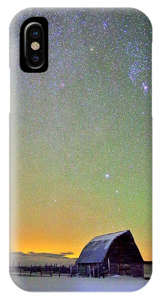 Colorful Night Barn IPhone Case