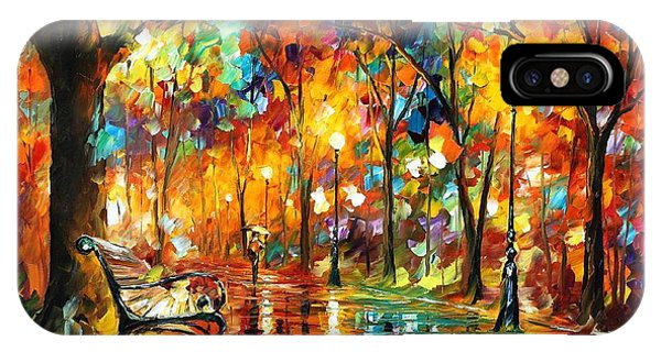 iPhone Case - Colorful Night - Palette Knlfe Oil Painting On Canvas By Leonid Afremov by Leonid Afremov