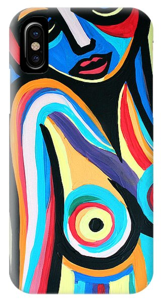 Colorful Nude Lady IPhone Case