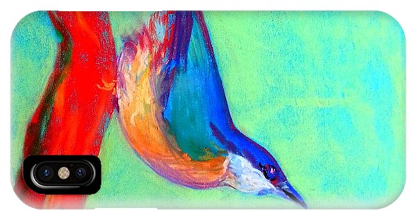 Colorful Nuthatch Bird IPhone Case