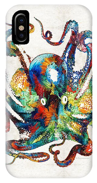 Colorful Octopus Art By Sharon Cummings IPhone Case