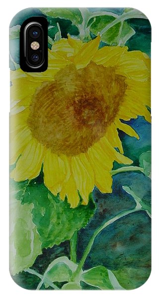 Colorful Original Watercolor Sunflower IPhone Case