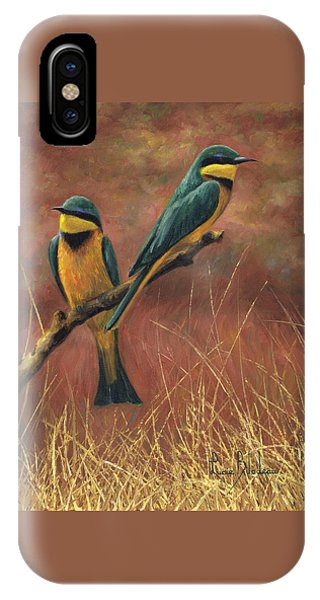 Bee iPhone Case - Colorful Pair by Lucie Bilodeau