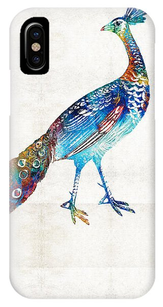 Peacock iPhone Case - Colorful Peacock Art By Sharon Cummings by Sharon Cummings