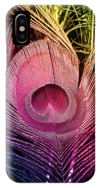 Colorful Peacock Feather IPhone Case