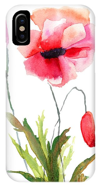 Colorful Poppy Flowers IPhone Case