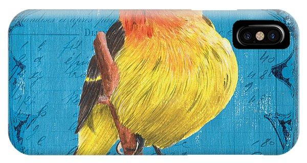 Colorful Bird iPhone Case - Colorful Songbirds 4 by Debbie DeWitt