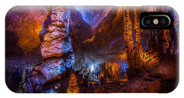 Colorful Stalactite Cave IPhone Case