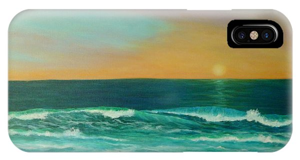Colorful Sunset Beach Paintings IPhone Case