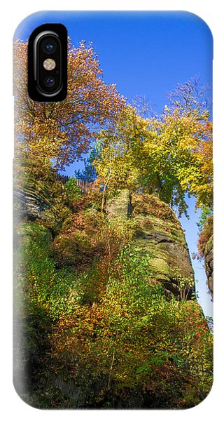 Colorful Trees In The Elbe Sandstone Mountains IPhone Case