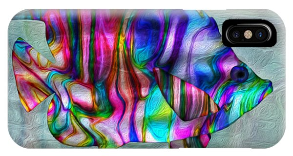 Illusion iPhone Case - Colorful Tropical Fish by Jack Zulli
